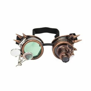 HOT Steampunk Victorian LED Light Single Eye Goggles Costume Cosplay Gothic Punk