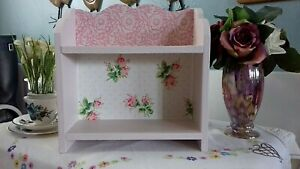 WOODEN DISPLAY SHELF STORAGE UNIT MADE WITH CATH KIDSTON BATHROOM BEDROOM ROSES