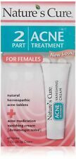 Nature s Cure Two Part Acne Treatment System for Women 1 month supply 60 Tabl