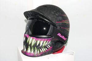 Ruroc Helmet RG1-DX M/L Toxin 2019 RRP: £300 Ski Snowboard Goggles