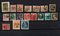 18 timbres Italie occupation inter alliée , annessione