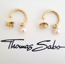 Thomas Sabo Ohrringe Cr581-445-14 Creolen 925er Sterlingsilber vergoldet