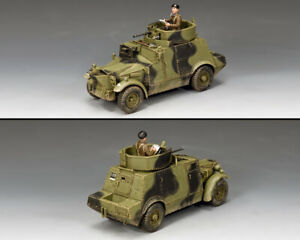 KING & COUNTRY FIELDS OF BATTLE FOB151 WW2 BRITISH MORRIS CS9 ARMORED CAR SET MB
