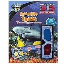 Discovery 3D Sticker: Incredible Sharks (2010, Paperback)