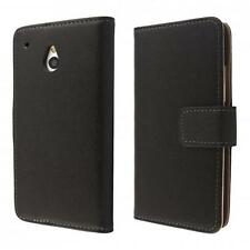 HTC One mini M4 Housse pochette wallet case noir + protection d'écran