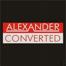 Alexander Converted Stickers Decals Rally Old Vintage