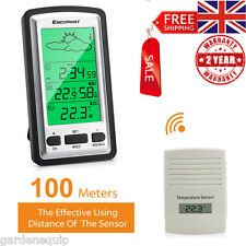 Digital Wireless Weather Station Forecast Temperature Humidity Indoor/Outdoor UK