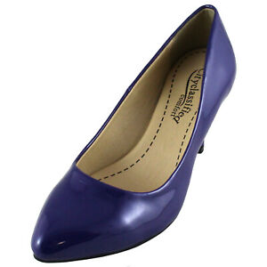 New women's shoes elegant pointy toe classic pumps high heel solid Royal blue