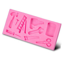 Silicone Tray Chocolate Hammer Spanner Home Tools Fondant Cake Mould NT6C