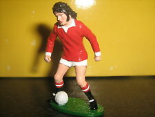 HAND Painted football in metallo Cast Figura George Best