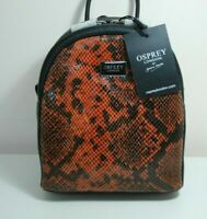 OSPREY LONDON Leather Gabrielle Backpack,  Blk ,  rrp: £185  Brand new