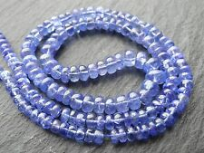 "TANZANITE RONDELLES, 4mm - 6.5mm, 18"" strand, 130 beads"