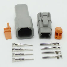 2 sets -  DTM04-4p and DT06M-4S 4 Pin Waterproof Electrical Wire Connector Plug