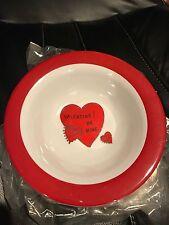 "Pottery Barn kids ""be My Valentine"" Melamine Bowls new"