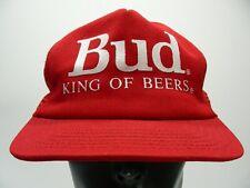 BUD KING OF BEERS - TRUE VINTAGE Trucker SNAPBACK MADE IN USA Hat Baseball Cap!