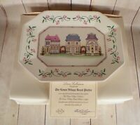 Lenox VILLAGE Octagonal Bread Plate Platter Tray in Original Box with COA 12-1/4