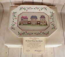 Lenox Village Octagonal Bread Plate Platter Tray in Original Box with Coa 12-1/4