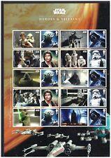 Star Wars Heroes and Villains Smilers Stamp Sheet - 2015 - LS96 UMM