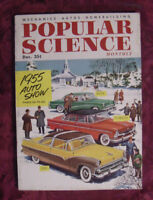 POPULAR SCIENCE Magazine December 1954 1955 AUTO SHOW BUICK PLYMOUTH FORD