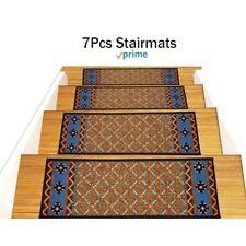 Gloria Rug Stair Treads Non Slip - Gloriastairtread/8.5x26 orange, blue, Beige 8