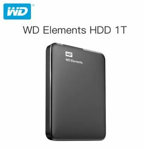 HARD DISK ESTERNO 2,5 USB 3.0 1TB 1000GB WESTERN DIGITAL ELEMENTS WD