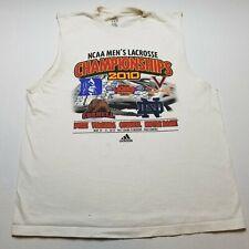 NCAA Lacrosse 2010 Championship Mens Cut Off Sleeve T-Shirt L Adidas White U27
