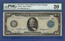 1914 $50 FRN FR-1051   ♚♚CHICAGO♚♚   PMG VF 20