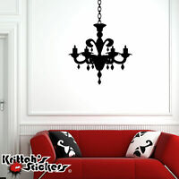 Chandelier Vinyl Wall Decal candelabra candle home decor gothic art sticker CH07