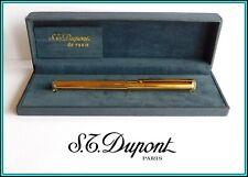 VINTAGE S.T. DUPONT Classic / Classique FOUNTAIN PEN - Gold Plated - 18K Nib: M