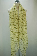 CREAM MINI HORSE (BROWN) PRINT SCARF