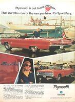 1967 Plymouth Sport Fury  - 11x14 Vintage Advertisement Print Car Ad LG55