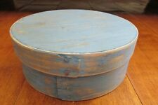 New listing Antique Vintage Blue Pantry Box With Lid, Country, Farm, Primitive