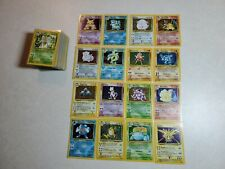 Complete Pokemon Base Set Entire Collection Unlimited All 102 (Played Condition)