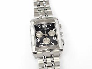 Raymond Weil Tango Black Dial Rectangular Chronograph 4881-ST-00209 Boxed