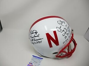 Grant Wistrom Jason Peter Nebraska 3 Inscriptions Signed Autographed FS Helmet