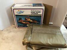 "Vintage King Kool Lounge Pool Floaty Raft 1983 The Wet Set Swimming 62""x35"" New"