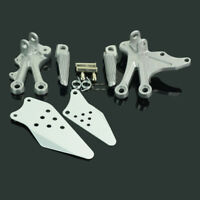 New Silver Front Rider  Foot Pegs Pedal For Kawasaki ZX10R 2004-2005 Motorcycle