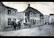 YSER (BELGIQUE) ATTELAGE de PIERRES , Rue de PERVYSSE animée en 1915