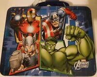 Marvel Comics Avengers Embossed Tin Lunch Box NEW