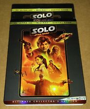 New Solo A Star Wars Story 4K/Blu-ray/Digital 3 Disc Set + Rare OOP Slipcover