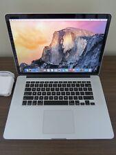 """Apple MacBook Pro 15"""" Retina Core i7 2.0ghz / 16GB Ram / 256GB SSD / ME293LL/A"""