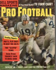 1959 Dell Sports Pro Football magazine, Johnny Unitas, Baltimore Colts ~ Good