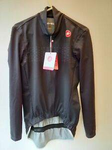 Castelli PRO FIT LIGHT RAIN Waterproof Cycling Jacket medium light black BNWT