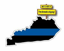 THIN BLUE LINE KENTUCKY MAP SUPERIMPOSED SUPPORT POLICE SACRIFICES 1* tb??