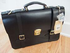 NWT Filson 11072052 Leather Field Satchel Messenger Bag Briefcase - Black
