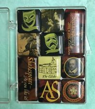 "Set of 10 ""The Shakespeare Collection"" Refrigerator Magnets in Case - Never Used"