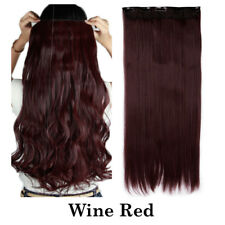 Thick Feel Human 100% Natural Clip in Full Head Curly Straight Hair Extensions A