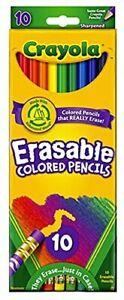 Crayola - Pack of 10x Erasable Colour Pencils