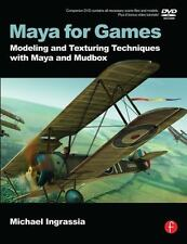BREAND NEW  Maya for Games: Modeling and Texturing 1st Ed w/ DVD /  USA EDITION