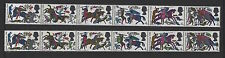 1966 Battle of Hastings phosphor. Strip x 6 green omitted error. Unmounted mint.